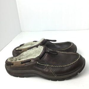 Sperry Top-Sider Women's Leather Slipper Brown 8.5